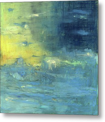 Metal Print featuring the painting Yearning Tides by Michal Mitak Mahgerefteh