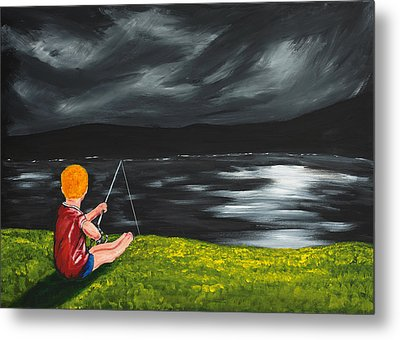 Metal Print featuring the painting Yel No Catch A Kelpie Wi That by Scott Wilmot