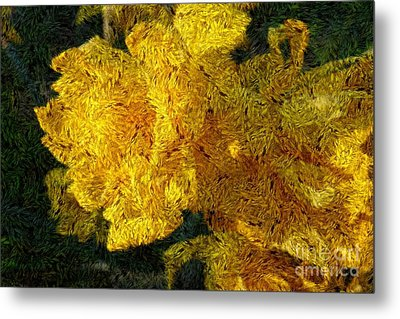 Yellow Abstraction Metal Print