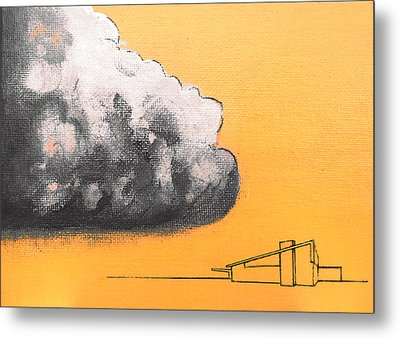 Yellow Alex Dark Cloud Metal Print
