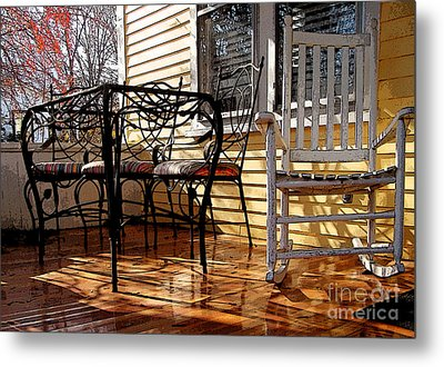 Metal Print featuring the photograph Yellow Ambiance by Betsy Zimmerli