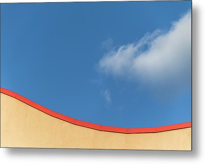 Yellow And Blue - Metal Print