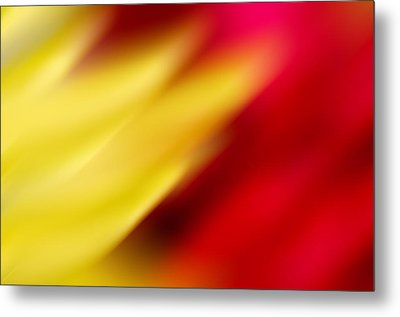 Yellow And Red Metal Print