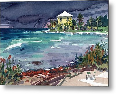 Yellow Bungalow Metal Print by Donald Maier