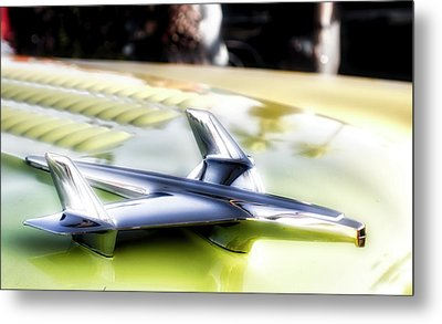 Yellow Chevy  Metal Print by Mark David Gerson