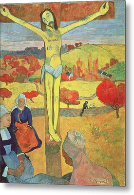 Yellow Christ Metal Print by Paul Gauguin