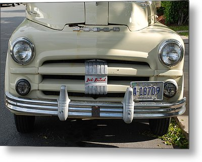 Yellow Dodge Metal Print by Rob Hans