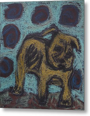 Yellow Dog Metal Print by Patricia Januszkiewicz