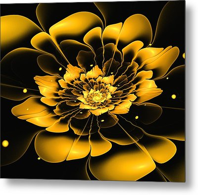 Yellow Flower Metal Print by Anastasiya Malakhova