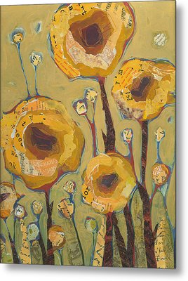 Yellow Flowers No3 Metal Print