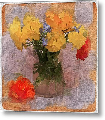 Yellow Flowers Metal Print by Yury Malkov