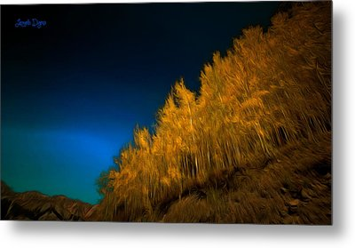 Yellow Forest - Pa Metal Print by Leonardo Digenio