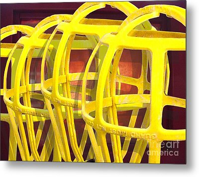 Yellow Guard Metal Print by Ron Bissett
