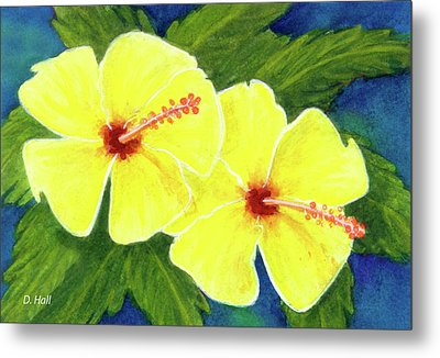 Yellow Hibiscus Flower #292 Metal Print by Donald k Hall
