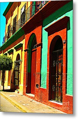 Yellow House By Michael Fitzpatrick Metal Print by Mexicolors Art Photography