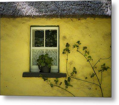 Yellow House County Clare Ireland Metal Print by Teresa Mucha
