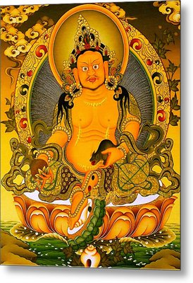 Yellow Jambhala 3 Metal Print