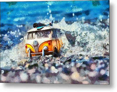 Yellow Kombi - Da Metal Print