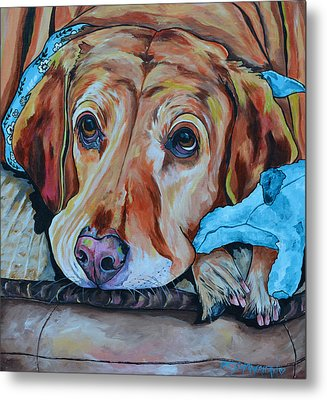 Yellow Lab Metal Print by Patti Schermerhorn