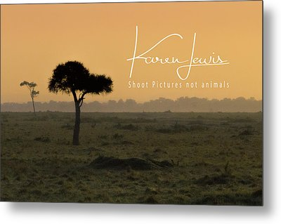Metal Print featuring the photograph Yellow Mara Dawn by Karen Lewis