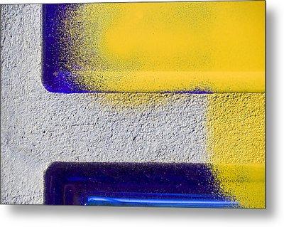 Yellow Metal Print by Marc Huebner