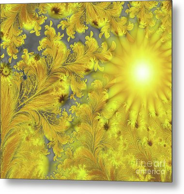 Yellow Morning Metal Print by Mindy Sommers