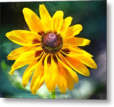 Yellow One Metal Print by Marty Koch
