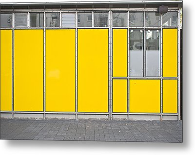 Yellow Panels Metal Print by Tom Gowanlock