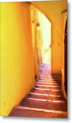 Metal Print featuring the photograph Yellow Passage  by Harry Spitz