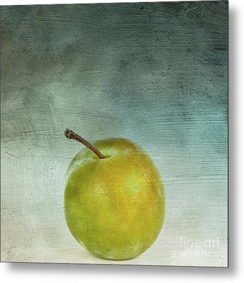 Yellow Plum Metal Print by Bernard Jaubert