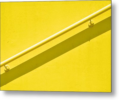 Yellow Rail Metal Print