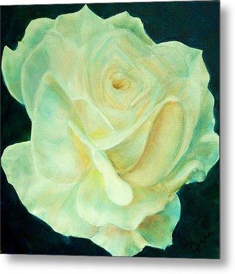 Yellow Rose 2 Metal Print by Dana Redfern