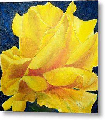 Yellow Rose Metal Print by Dana Redfern