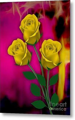Yellow Roses Collection Metal Print by Marvin Blaine