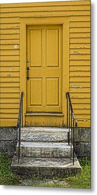 Yellow Shaker Door Metal Print by Stephen Stookey