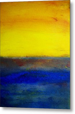 Yellow Sky 1 Metal Print