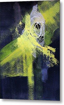 Metal Print featuring the painting Yellow Splash by Nancy Merkle