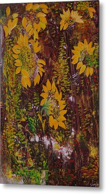 Yellow Sunflowers Metal Print by Sima Amid Wewetzer