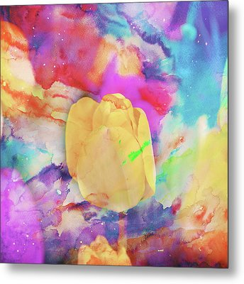 Yellow Tulip Metal Print by Toni Hopper
