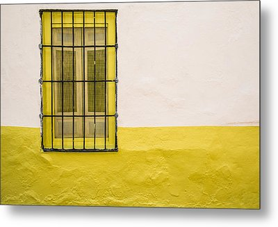 Yellowed Wall Metal Print