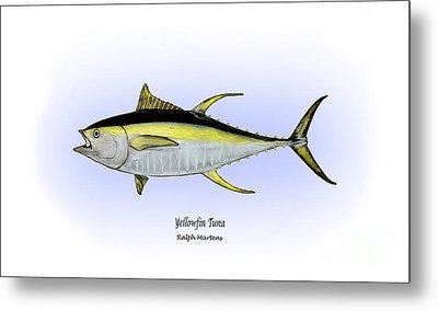 Yellowfin Tuna Metal Print by Ralph Martens