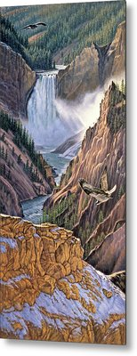 Yellowstone Canyon-osprey Metal Print by Paul Krapf