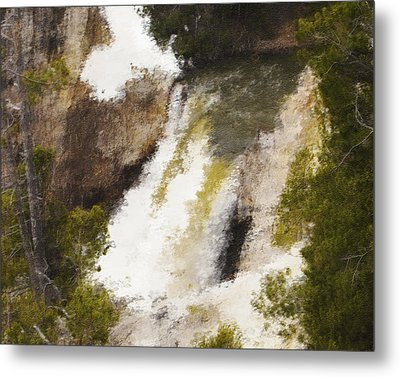 Yellowstone Falls Metal Print by Jo-Anne Gazo-McKim