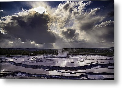 Yellowstone Geysers And Hot Springs Metal Print by Jason Moynihan