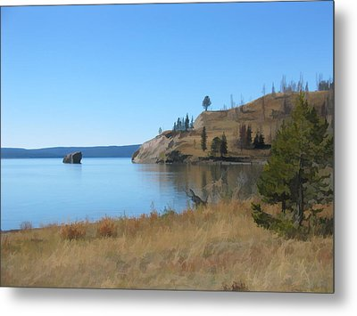 Yellowstone Lake Se Metal Print by Gary Baird