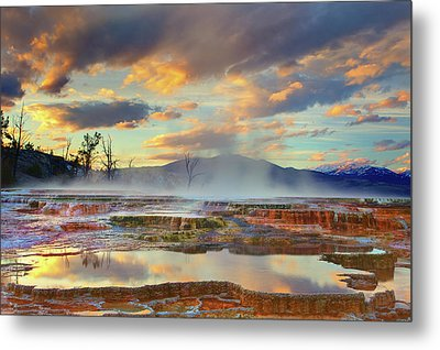 Yellowstone National Park-mammoth Hot Springs Metal Print