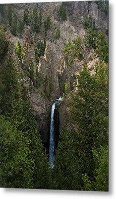 Metal Print featuring the photograph Yellowstone Waterfall by Roger Mullenhour