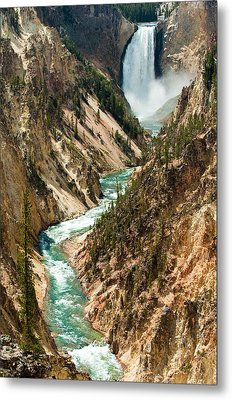 Yellowstone Waterfalls Metal Print