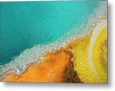 Yellowstone West Thumb Thermal Pool Close-up Metal Print by Bill Wight CA