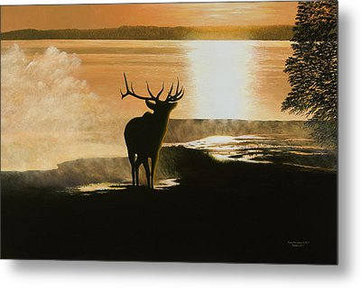 Yellowstone's Monarch Metal Print
